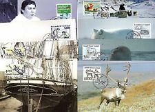 8  Maximumkarten Grönland   aus  1992 - 1993-   KW 25,50 €  ( 24274 )