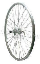 700c rigida visser quando hub arrière en alliage dégagement rapide argent cnc vélo roue