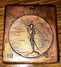 1830 Treaty Dancing Rabbit Creek Alabama PeaceTreaty Medal Bronze/Brass Finish