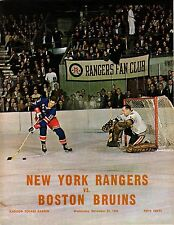 1966 Bruins Rangers Bobby Orr 2 Goals First Power Play Goal Program