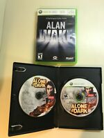 Xbox 360 Horror Lot - Alan Wake & Alone in the Dark with Bonus - 2 Games