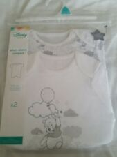 Disney Winnie The Pooh ~ 2x Baby Boys / Girls  Bodysuits/Vests/Romper ~ 9-12m