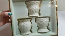 Lenox Set of 3 Patterns Beaded Votives Candle Holders Summer Beach New