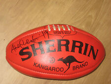 HAWTHORN - SHANE CRAWFORD SIGNED SHERRIN FOOTBALL + PHOTO PROOF & C.O.A.