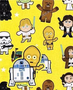 STAR WARS 2 SHEETS AND 2 TAGS Gift Wrap Wrapping PAPER
