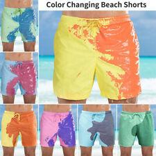 Men's Swim Shorts Color Changing Swimming Trunks Beach Board Shorts Swimwear US