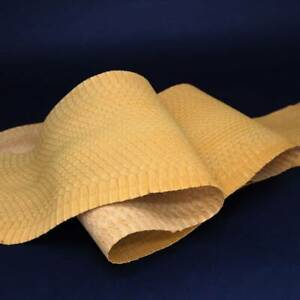 Genuine NUBUCK Asia Snakeskin Leather Hide Pelt Snake Skin Craft Supply Orange