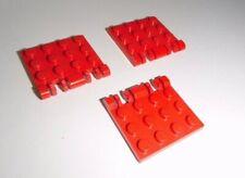 Lego (44570) 3 Rasterscharniere 4x4, in rot aus 4857 7043