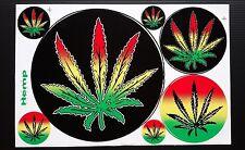 Cannabis Decal Stickers reggae jamaica 7 x 10.5 inch  Free Shipping