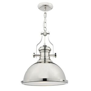 Arona Single Light Ceiling Pendant in Polished Chrome Finish with Glass Diffuser
