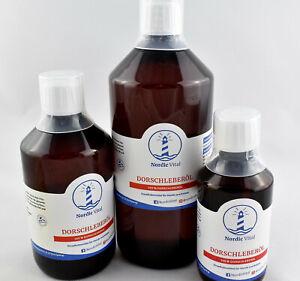 Dorschlebertran,Dorschöl,Fischöl,Barföl,Vitamin A,Hunde,Katzen,250ml bis 1000ml.