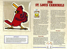 1956 ST LOUIS CARDINALS Baseball Team Patch COOPERSTOWN COLLECTION Willabee Ward