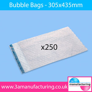 Bubble Wrap Bags 305x435mm (Pack Qty:1 x 250)