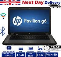 "HP Pavilion G6-1155sa 15.6"" Laptop Intel i5 2.30GHz 4GB RAM 1TB HDD Windows-10"