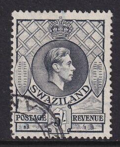 Swaziland 1938-54 5/- Grey Perf 13½ x 13 SG 37 Fine used.