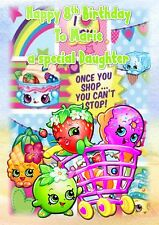 Personalised birthday card Shopkins any age daughter sister grandaughter nlc