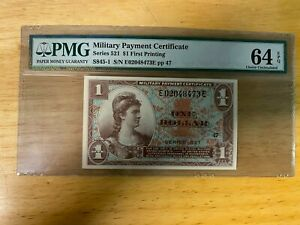 MPC Series 521 $1 Dollar 1st Printing pp 47 - PMG 65 Uncirculated