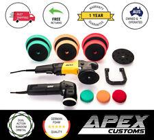 APEX CUSTOMS - Dual Action Polisher Bundle 21mm + 9mm Kit with German Foam Pads