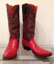Be BEST dressed: PROM-BRIDE-GUEST with LUXURY RED Alligator BROWN Western Boots!