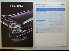 Prospekt Ford Scorpio 2. modelo Limousine/torneo, 7.1995, 44 s. + precios/datos