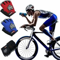 Outdoor Sport Bicycle Cycling Bike Half Finger Mesh Gloves Touch Screen