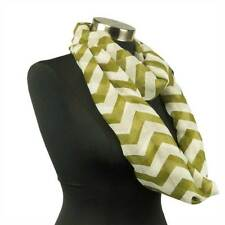 Chevron Sheer Infinity Scarf Soft Color Scarves Khaki Green Lightweight New US