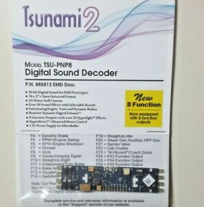Soundtraxx 885813 Tsunami 2 8-Function Sound Control DCC Decoder w CurrentKeeper