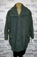 Vincenzo Allocca: kuschelige Lagenlook Bouclé Jacke khaki, one size 44 - 56 NEU