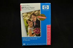 New HP Premium Plus Photo Paper, High Gloss 100 Sheets 4x6 Inches