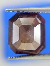 2.14TCW Chocolate Brown color Emerald shape Full cut Fancy color Natural Diamond