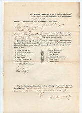 1838 New York court document SIGNED H B Haswell Peter Cagger St Peter's Hospital