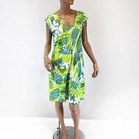 NEW Jams World Sherry Dress Kaim Turq Hawaiian Print Sundress XL Made in USA