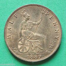 1887 Queen Victoria Half-Penny UNC SNo28718
