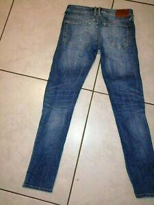 Jean pépé Jeans slim taille w30 L34 low waist - hatch france