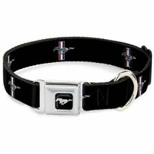 Buckle-Down Ford Mustang Logo Black Large Seatbelt Buckle Dog Collar