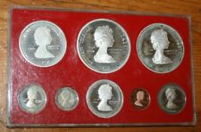 Cayman Islands 1978 Silver Eight Coin Proof Set Original Sealed Plasic Case Box