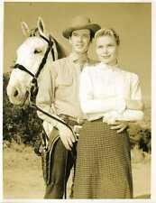 "Peter Breck Anna Lisa Black Saddle Original 7x9"" Photo #K3330"