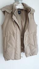 """GAP"" women's beige sleevless down jacket/gilet, size S, used once"