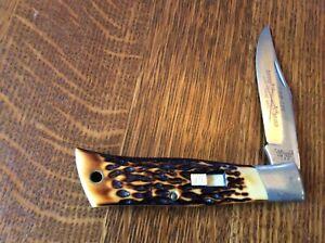 Vintage Camillus USA Sword Brand Knife No. 7 FOLDING HUNTER Lever Lock Knife
