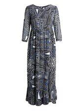 Koko Womens Plus Size Abstract Print Ruffle Hem Maxi Dress