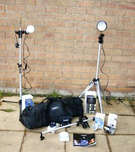 Portaflash 336 Studio Light Kit + 3 AC Slave Flash Heads And More