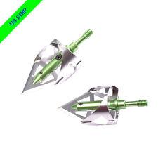 3X 100 Grain Broadheads 360 Cut for Archery Crossbow Targets Hunting Arrow Green
