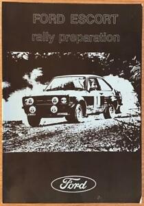 FORD ESCORT Mk I & Mk II Rally Preparation Manual Book c1980?