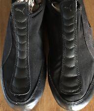 Dance Shoes PUMA Mahanuala Women's Sz 9 1/2 Black Leather Canvas Ballet Slip On