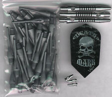 """DEATHMARK"" Soft Tip Dart Upgrade Kit: Silver Tips, Silver/Black Shafts & More"