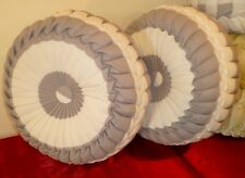 Custom Made Round Pillows Gray/Beige for sofa/ bed Throw Decorative.