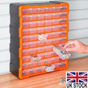 60 Multi Drawer Parts Storage Cabinet Nail Unit Organiser Home Garage Tool Box