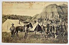 Antique Postcard-Hunting Scene-Dickinson, ND-1909