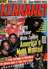 Art Alexakis of Everclear on Kerrang Cover 1996    Pantera   White Zombie   Korn