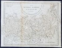 1795 Aaron Arrowsmith Original Antique Map of The Russian Empire